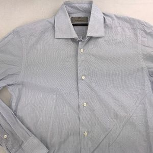 CANALI EXCLUSIVE BUTTON DOWN DRESS SHIRT 15 - 33